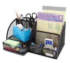 desk organizer mesh storage office supply holder desktop pencil pen drawer black easypag