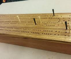 Wooden Peg Board Game Cribbage Board Game Box 100 Steps with Pictures 58