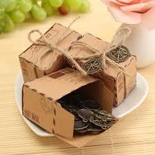 50pcs kraft paper box airplane mail candy box rustic wedding favors shabby vine gift ng bags cod