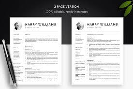Modern Resume Template Harry Bonus