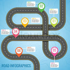 Infographics Vector Template With Road Stock Vector Colourbox