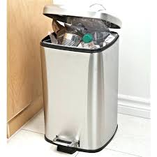 stainless garbage cans kitchen brilliant trash 16 gallon dual compartment steel automatic intended for