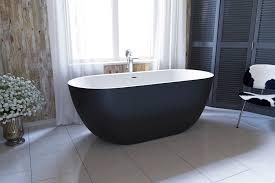 corelia black wht freestanding stone bathtub 1