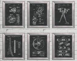 home theater art. home theater decor patent art hollywood wall movie poster film strip artwork entertainment decoration