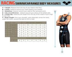 Body Length Size Chart Size Guide Arenafinswim Com