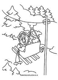 Onderwerp Wintervakantie Vakantie Gratis Kleurplaten Downloaden En