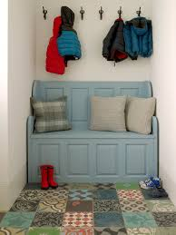 the dump rugs with victorian entry and white wall light blue bench coat hook beige molding kids coats
