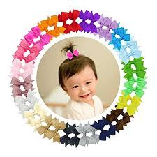 "Ruyaa <b>40pcs</b> Tiny 2"" <b>Pinwheel Hair</b> Bows Alligator Clips for Baby ..."