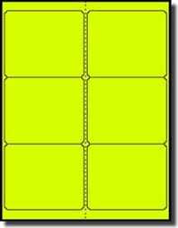 Avery 5164 Labels 120 Fluorescent Neon Yellow Laser Only Labels 4 X 3 1 3 20 Sheets With 6 Labels Per Sheet Use Compulabel 312401 Avery 5164 Template