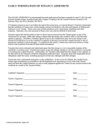 lease termination letter template early addendum ez landlord forms early lease termination letter template