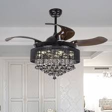 Crystal Light Fixture For Ceiling Fan