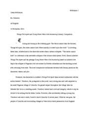 things fall apart documents course hero things fall apart comparison essay
