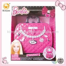 barbie kids light up mirror fashionable makeup case cosmetics makeup kit