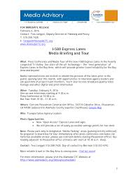 I-580 Express Lanes Media Briefing and Tour