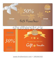 Coupon Template Delectable Gift Voucher Gift Certificate Coupon Template Stock Vector Royalty