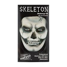 mehron makeup premium character kit skeleton