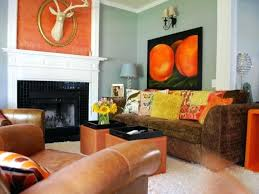 Burnt Orange And Brown Living Room Property New Decorating