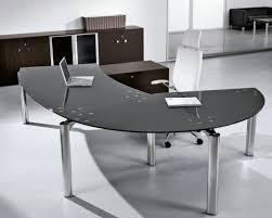 furniture charming desks home office black glass office desk with regard to modern glass desks for