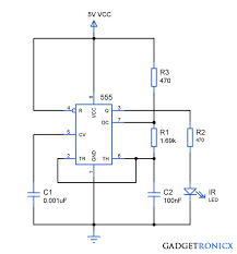 infra red ir remote jammer circuit ic 555