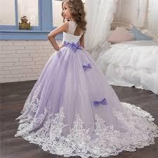 2018 <b>Romantic</b> Champagne <b>Puffy Lace</b> Flower Girl Dress for ...