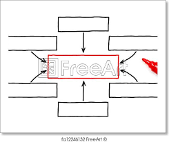 Free Art Print Of Empty Flow Chart Red Marker