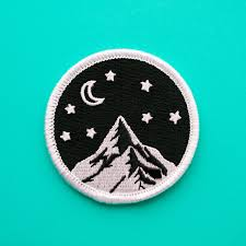 Designer Iron On Patches Mountain Patch Embroidered Patch Mountains Nature Patch