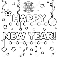 The link for them is listed at the bottom of this section. Coloring Page With Happy New Year Text Snowflakes And Bubbles Royalty Free Cliparts Vectors And Stock Illustration Image 90657244