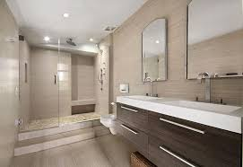 Want to do something a little bit different with your master bathroom's walk-in  shower? Perhaps you might try elevating up a step or two, as this example  ...
