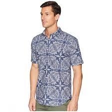 Bugatchi Shaped Fit Indigo Paisley Woven Shirt Casual Shirts