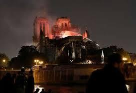 Resultado de imagem para incêndio em Notre Dame