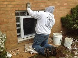 image of intalling glass block basement windows
