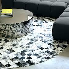 modern circular rugs brown area contemporary abstract regarding round decor 5