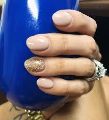 sns nails gold glitter