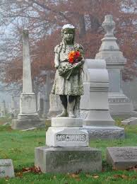 Statue of Mary Ella McGinnis, one of over 100 statues at Crown ...