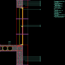 insulated concrete wall curtain wall dwg detail for autocad