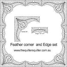 Feather Corner Edge | Quilting ideas | Pinterest | Feathers ... & Feather Corner Edge. Quilting TemplatesQuilting ... Adamdwight.com