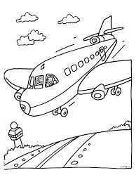 Kleurplaat Vliegvakantie Vliegtuig Mei Vankantie Kleurplatennl