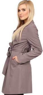 women s trench coat with belt in cappuccino