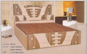 box pleated modern bed