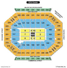 Dcu Center Seating Chart For Concerts Dcu Center Concert Seating Chart Meticulous Dcu Center
