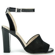 black leather high heel sandal cr2642 l14
