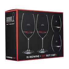riedel 4 piece vinum xl cabernet sauvignon and o syrah shiraz red wine glass set
