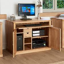 Image Cabinet Hidden Home Office Place For Everything Store Solid Oak Hidden Home Office Mobel