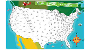 United States map coloring page   By coloring the map according to ...