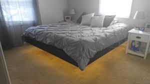 magnetic floating bed floating bed frame platform bed nightstand