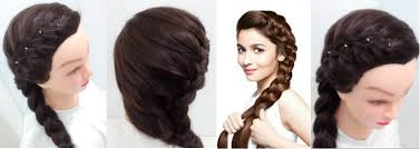 Plaiting Hair Style side braid hairstyles for medium hair youtube 6853 by wearticles.com