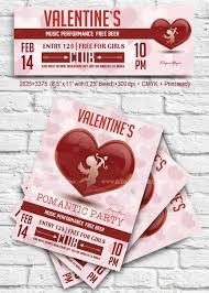 valentines day v17 2018 flyer psd template facebook cover free ift