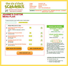 Sample Meal Plan Weekly Meal Planner Template The Scramble