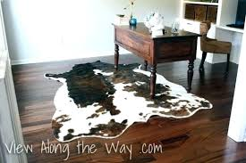on using a real or faux cowhide rug in home office animal skin rugs with head animal skin rugs