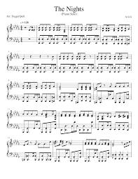 Avicii - The Nights (Piano Solo) Sheet music for Piano (Solo)